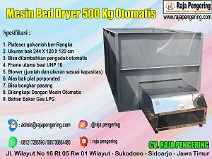 box dryer, bed dryer, mesin pengering jagung