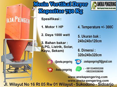 vertical dryer, mesin pengering vertikal, alat vertical dryee