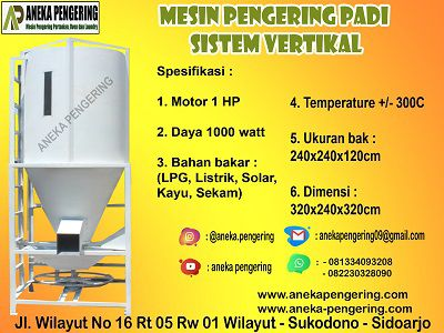 mesin vertical dryer, mesin pengering vertikal, mesin pengering vertical dryer